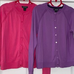 Lands End Cardigan Pack -Girls XL/16 Pink & Purple